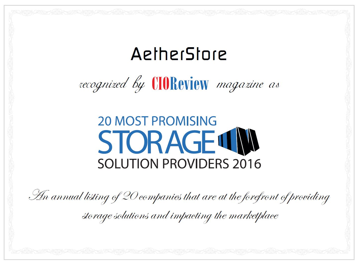 AetherStore Most Promising