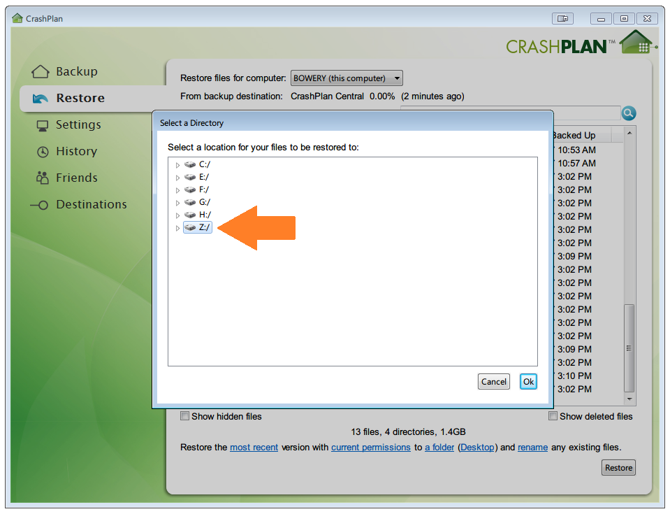 crashplan-restore-location-arrow